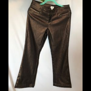 Cache Brown Shimmering Pants Size 6